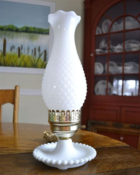 fenton milk glass hobnail hurricane l vintage fenton white hobnail milk glass 19 quot hurricane l