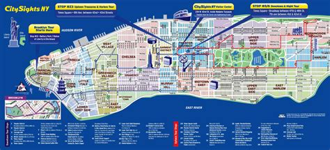 sightseeing map of nyc tourist attractions in new york city map