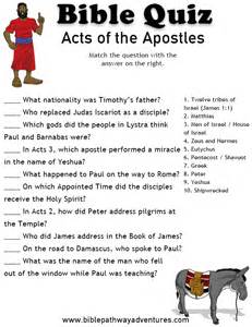 free bible quiz for elementary students acts of the apostles