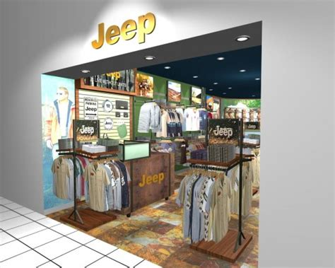 Jeep Clothing Shopping Jeep Clothing Store Realistic 3d Retail Stores Interior