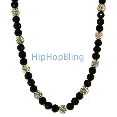 gold 15 iced out disco balls bling necklace disco