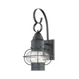 outdoor cage light outdoor wall light with clear cage shade in mystic black