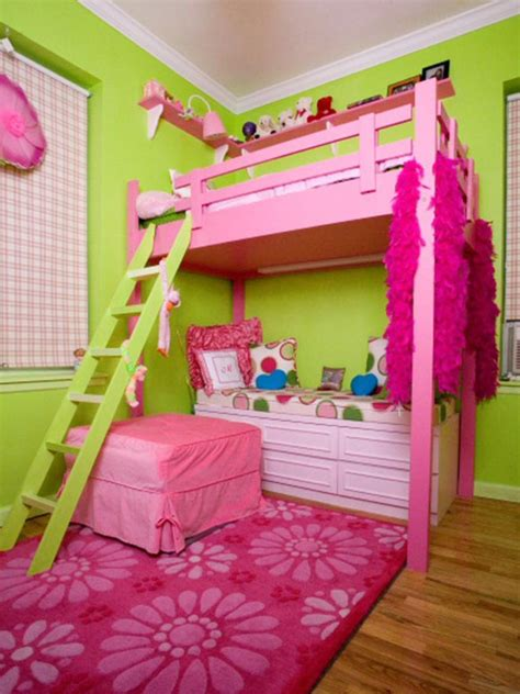 girls bedroom ideas bunk beds bedroom magnificent girl pink lime bedroom decoration