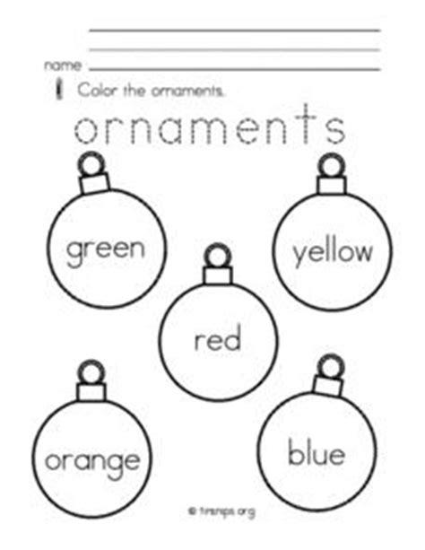 christmas ornaments pre k kindergarten worksheet