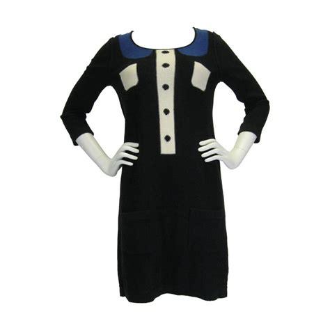 Lower V Shape Knit Dress by rykiel trompe l oeil knit dress for sale at