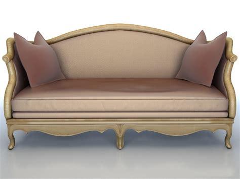 Model Flooring by Classic Wooden Fabric Sofa 3d Model 3dsmax Maya 3ds Files