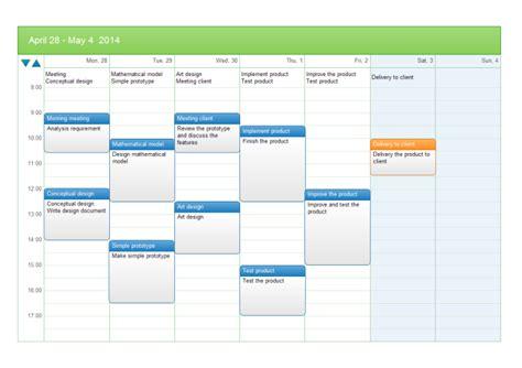 Free Task Calendar Template