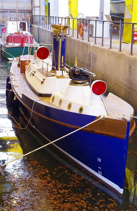 boat house gosport steam pinnace 199 in her berth in boathouse 4 gosport