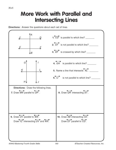 Parallel And Perpendicular Lines Worksheet Pdf by All Worksheets 187 Parallel And Perpendicular Lines