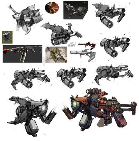 analyzing fallout 4 concept art aliens boss enemies image e tech smg barrel jpg borderlands wiki fandom