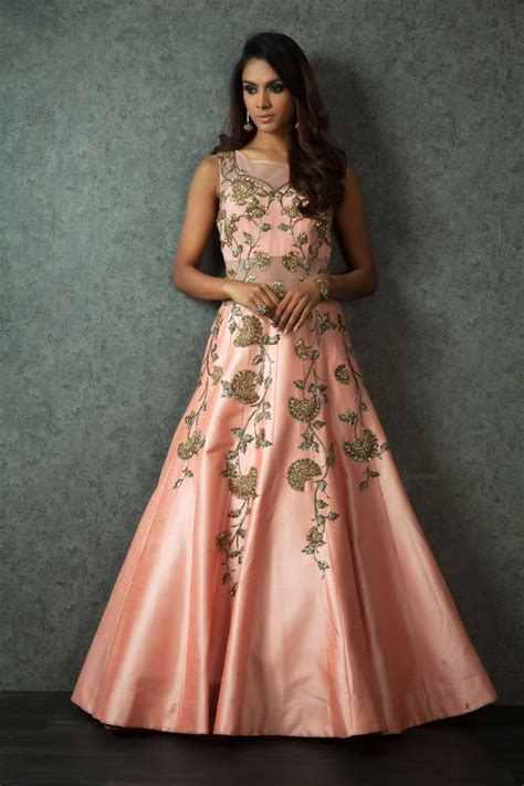 floor length ghera gown a beautiful silk gown with a zari embroidery gowns