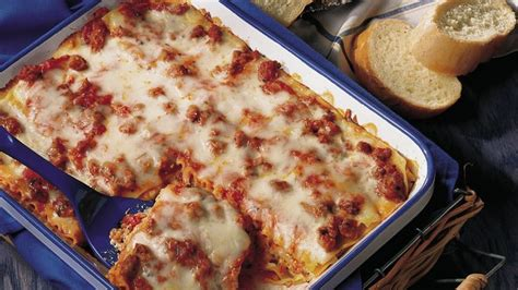 Betty Crocker Lasagna Recipe With Cottage Cheese by Italian Sausage Lasagna Lighter Recipe Recipe From