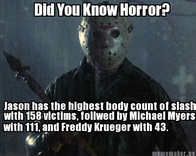 horror film quotes quiz did you know horror jason voorhees leads the body count
