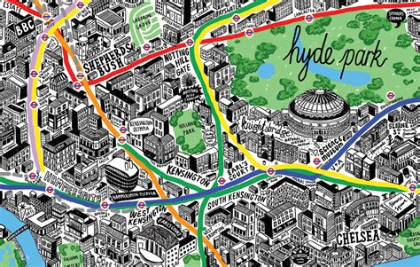 designboom london london hand drawn map by jenni sparks