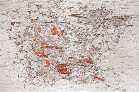 Concrete Block Home Plans background texture of old damaged brick wall with white