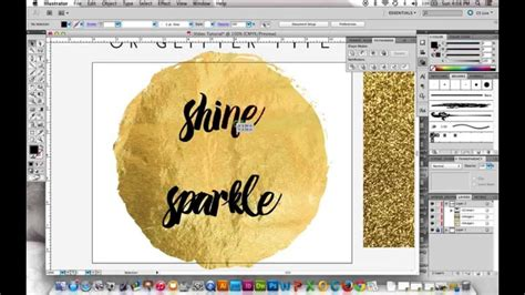 gold glitter pattern illustrator in this video i show you the steps to making gold foil or