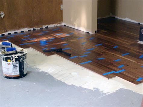 Engineered Wood Flooring Glue by How To Install Diy Glue Engineered Hardwood Flooring