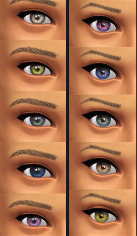 vires a vire coloring 1545215561 default sims 4 eye color seventhecho default replacements for new eye colors