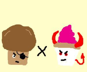 Muffin Hooks 2 trouble muffin x evil cupcake