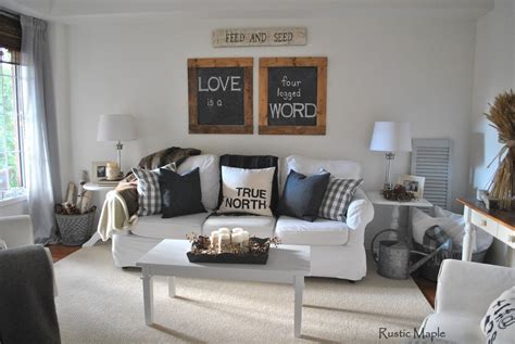 living room tour rustic maple our neutral fall living room tour