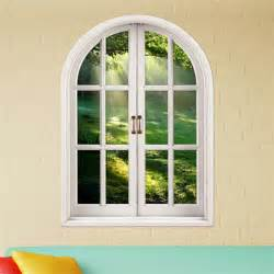 Decorative Window Stickers For Home by 3d Brightness Of Forest Stickers Artificial Window View 3d