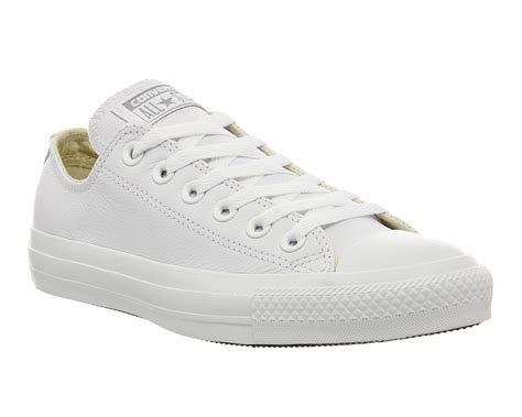 Converse White converse white leather low tops offerzone co uk