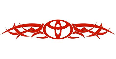 Toyota Decals Stickers Toyota Decals And Stickers Toyota Tribal Back Auto