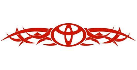Toyota Sticker Toyota Decals And Stickers Toyota Tribal Back Auto