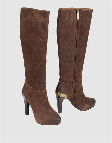 brown high heeled boots liu jo high heeled boots in brown lyst
