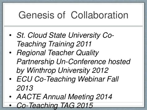St Cloud State Mba Info Session by Co Teaching A Mutually Beneficial School