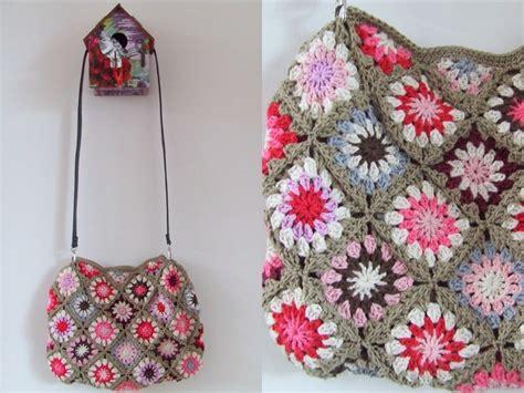 tutorial tas crochet bolso granny squares de haken en meer naturadmc haken