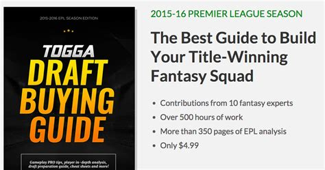 epl draft togga launches premier league draft buying guide for