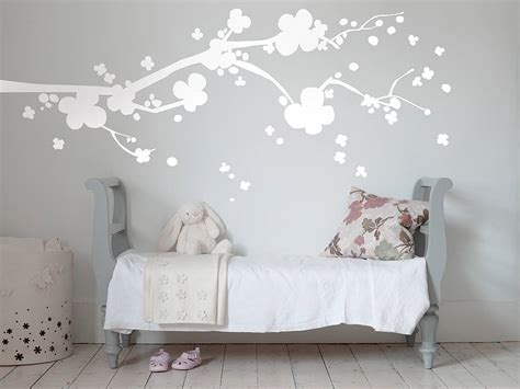 blossom wall stickers cherry blossom wall sticker by bambizi