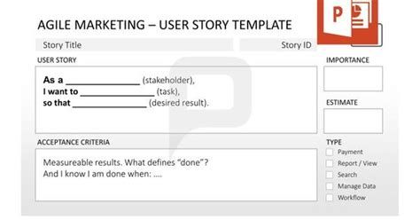 agile user story template agile marketing for powerpoint always keep the user story