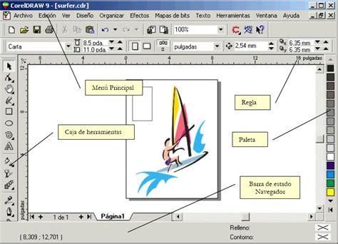 corel draw x5 y sus partes informaticoos descripci 243 n del espacio de trabajo de corel
