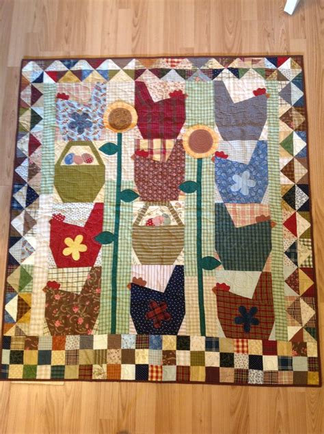 Patchwork Chickens - 241 best images about basse cour on embroidery