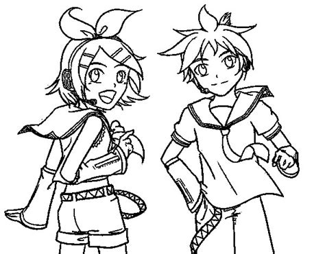 Kagamine Rin Coloring Pages