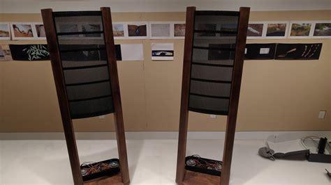 home built curved electrostatic speaker stereo system