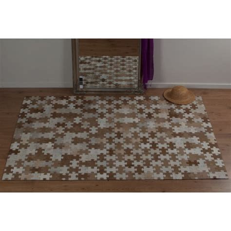 Rectangular Cowhide Rug Real Rug Patchwork Cowhide Brown Rectangular Modern Rug