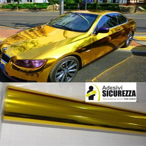 Auto Cromo by Pellicola Adesiva Cromata Oro Per Car Wrapping Shop