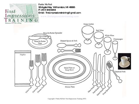 place settings proper place setting in business