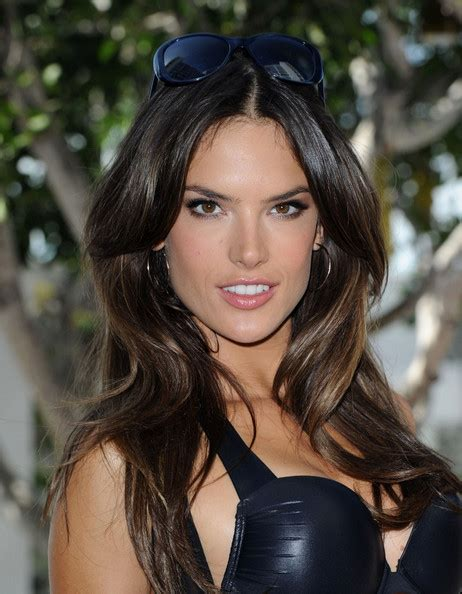 bangs hairstyle victoria secrets alessandra ambrosio dons long curls at the victoria s