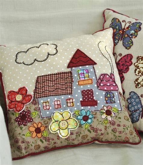 Patchwork Co Uk - mini patchwork cottage cushion rex at dotcomgiftshop