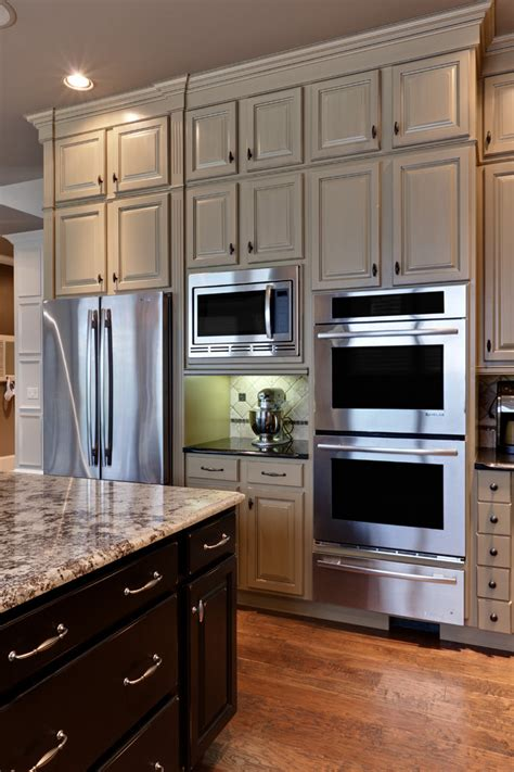 Kitchen Design Inc Custom Microwave Trim Kit Traditional Style For Kitchen With Two Tone Cabinets By Turan Designs