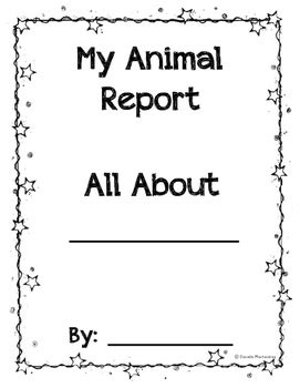 Animal Reports Informational Non Fiction Report Writing Blank Templates Animal Report Template