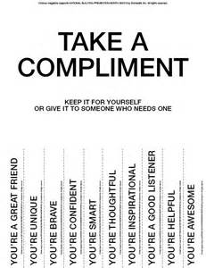 take what you need template take a compliment give a compliment printable middle