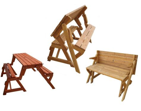picnic table and bench convertible picnic table and garden bench shut up and