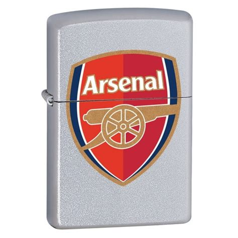 gifts for arsenal fans zippo arsenal fc satin chrome windproof lighter