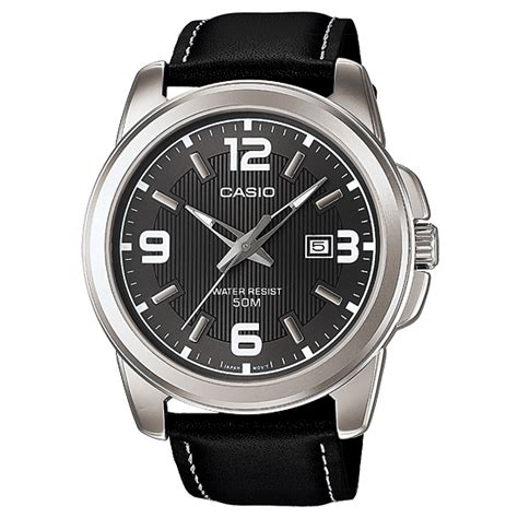 Jam Tangan Pria Casio Mtp casio mens quartz black leather analog dress mtp 1314l 8 mtp1314