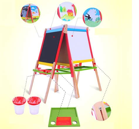 magnetic easel for toddlers kids easel art children whiteboard blackboard stand wood